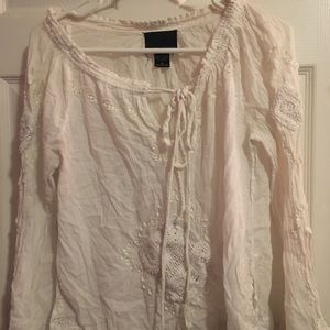 Cynthia Rowley Lace Long Sleeve Top Size M